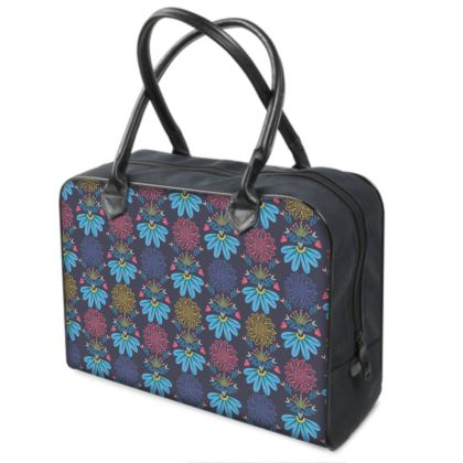 Blue Floral Craft Holdall