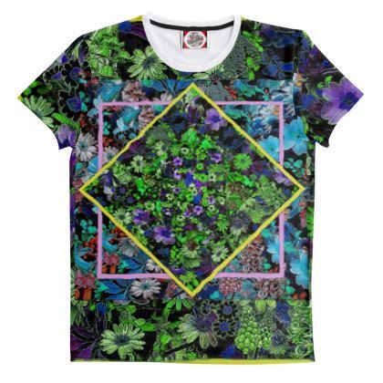 Maglietta in cotone con stampa fiorita  linea Il fiorame