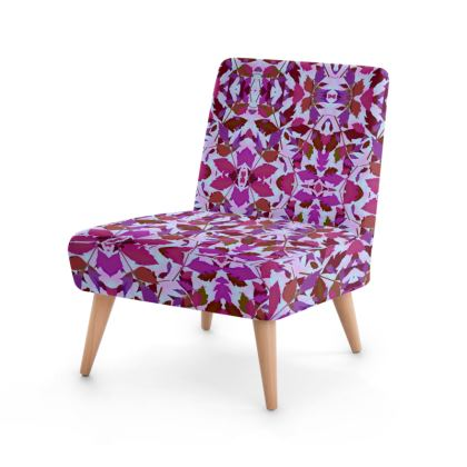 Occasional Chair  Cathedral Leaves  Anemone