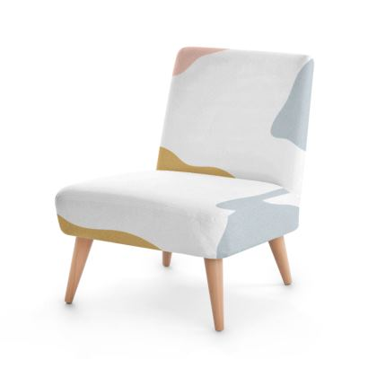 Occasional Chair - Abstract Pastel Stone