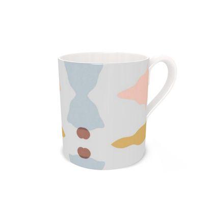 Mug - Bone China Abstract Pastel Stone