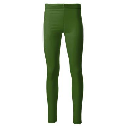 Leggings verdi elasticizzati  linea Il fiorame