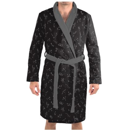 Constellation Print Dressing Gown