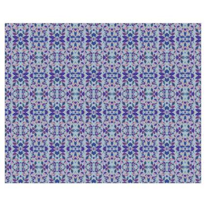 Curtains  Diamond Leaves  Lagoon [blue]