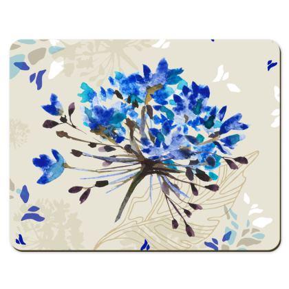 Blue Herbarium Placemats