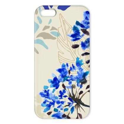 Blue Herbarium iPhone Case