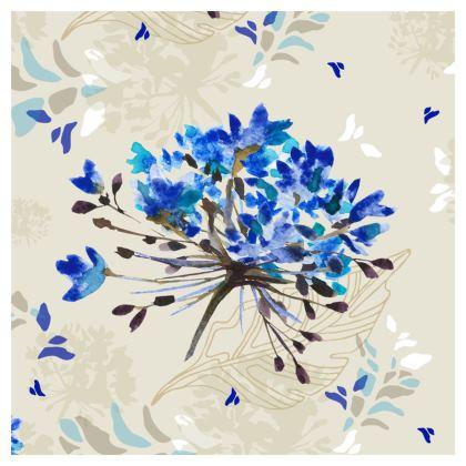 Blue Herbarium Coasters