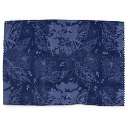 Blue Herbarium Tea Towel