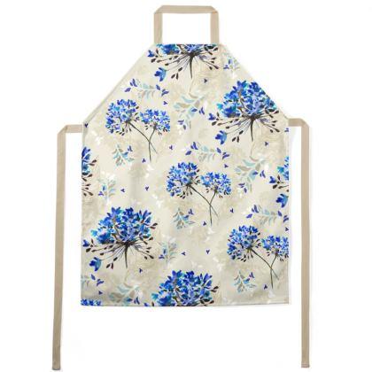 Blue Herbarium Apron