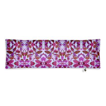 Bolster Cushion  Cathedral Leaves  Anemone