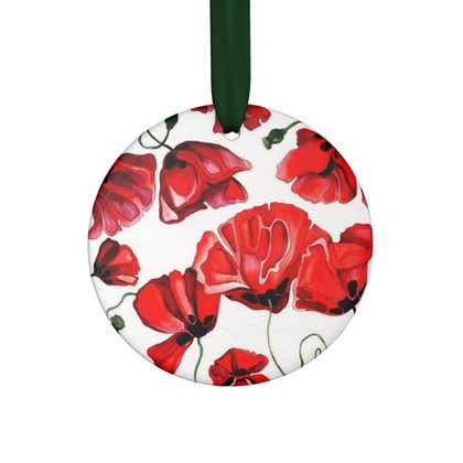 Red Poppies Ornament