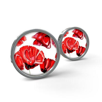 Red Poppies Cufflinks