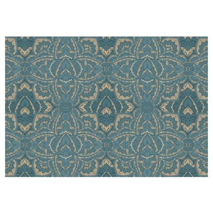 Art deco Mandala Blue Teal Gold - Occasional chair