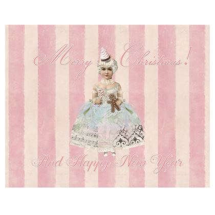 Pink Christmas Fairy Fabric Placemat