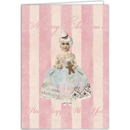 Pink Fairy Christmas Occasions Cards