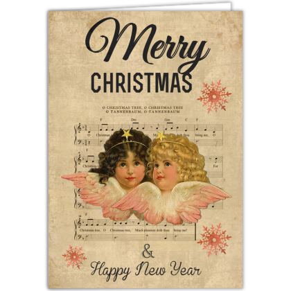 Vintage Cherubs Christmas Occasions Cards