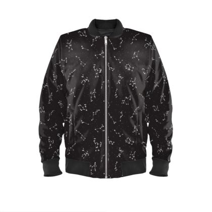 Constellation Print Ladies Bomber Jacket