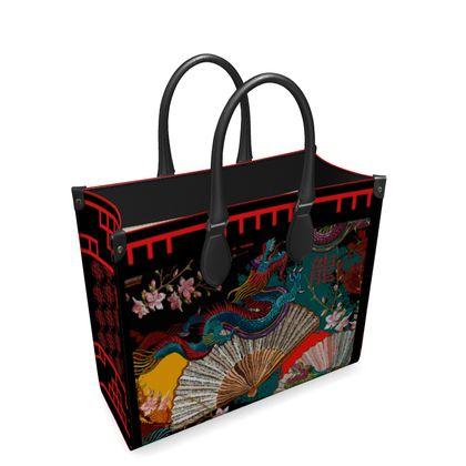 Oriental Leather Shopper Bag