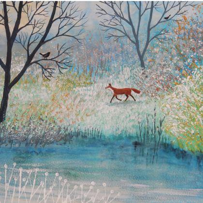 Handbag with 'Foxtrot' design by Jo Grundy