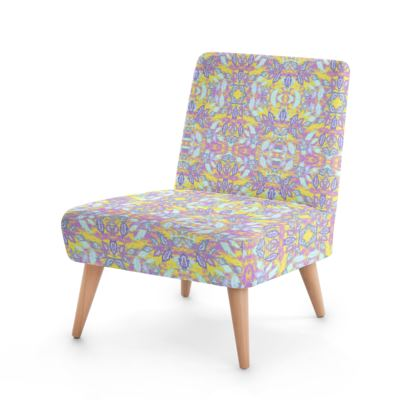 Occasional Chair, Pink, Yellow,   Slipstream  Rhubarb Crumble