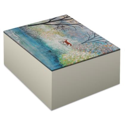 Jewellery box with 'Foxtrot' design by Jo Grundy