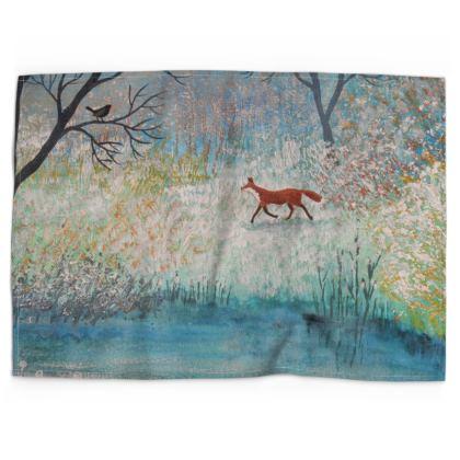 Fox Trot Tea Towel