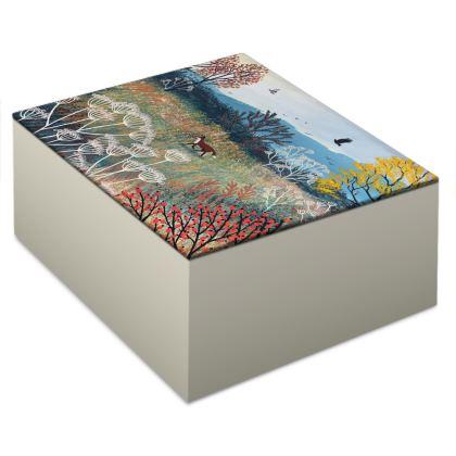 Across Autumn Meadow Jewellery Box