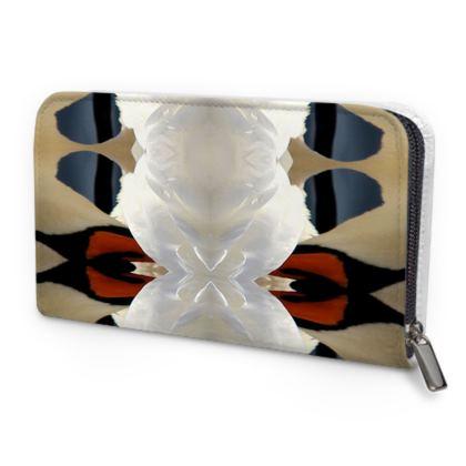 Swan Leather Zip Purse
