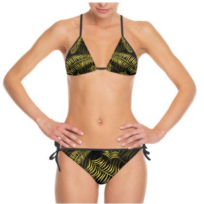 Caribbean Black and Yellow Bikini