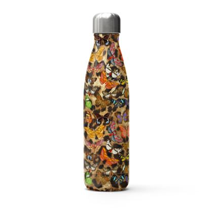 Stainless Steel Thermal Bottle Leopard Flutter