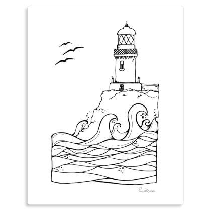 Barra Head Lighthouse metal print