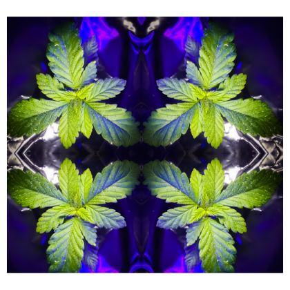 Blue Fractal Leaf t-shirt
