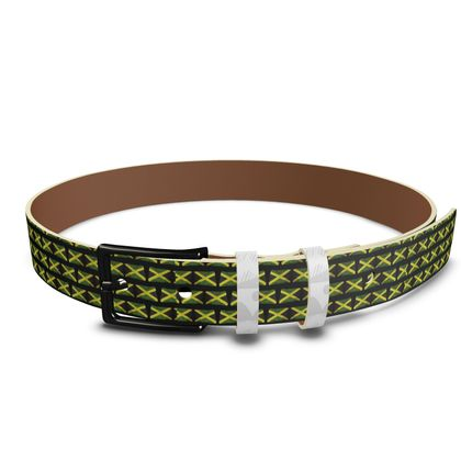 Jamaican Flags Leather Belt