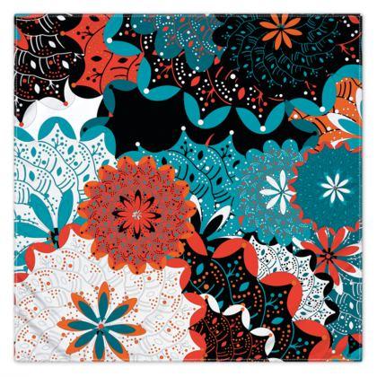 Indian pattern print scarf