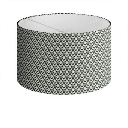 Art Deco Diamonds Drum Lamp Shade