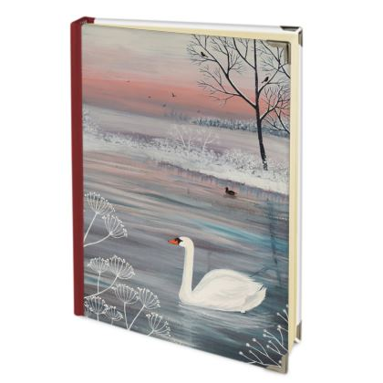 Journal with 'Winter Serenity' design by Jo Grundy