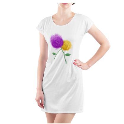 Ladies Tunic T-Shirt Emmeline Anne Spring Blooms