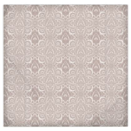 Duvet cover and pillow case- Nude champagne Art deco Mandala