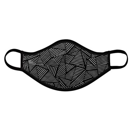 Abstract Linear Face Mask 4 pack