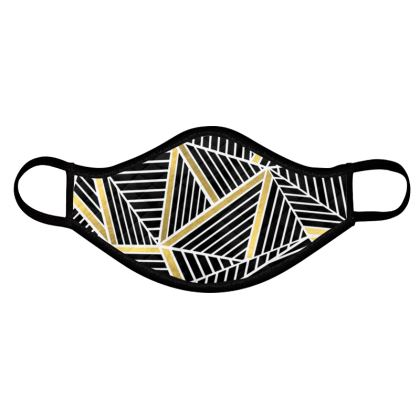 Abstraction Gold Face Mask 4 pack