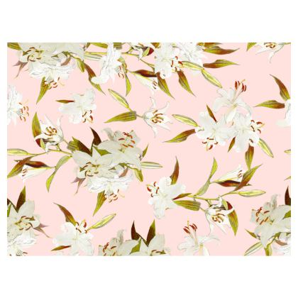 Espadrilles - Cotton canvas x Jute - Lilies in Pink