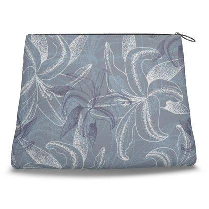 Canvas Shell Clutch - Clement Lilly (Ash Blue)