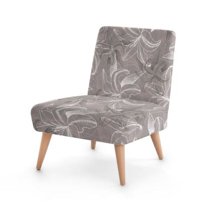 Beech wood x Velour - Occasional Chair - Clement Lily