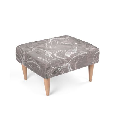 Beechwood x Velour - Footstool - Clement Lily