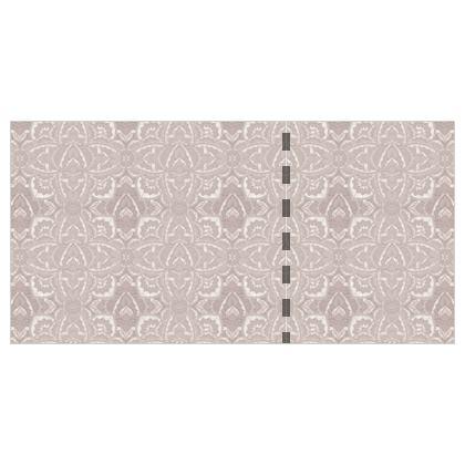 Art deco Mandala Neutral nude oyster silver - Wallpaper