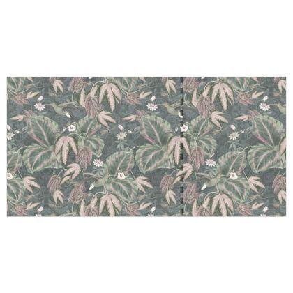 Vintage neutral green & grey hummingbirds tropical foliage - Wallpaper