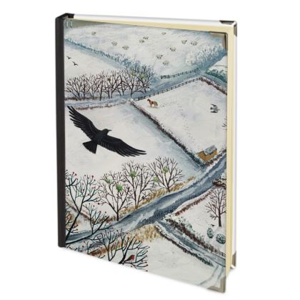 Journal with 'As the Crow Flies' design by Jo Grundy