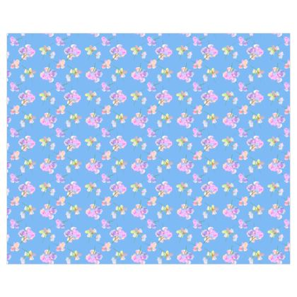Curtains [single panel shown]  My Sweet Pea  Periwinkle [blue]