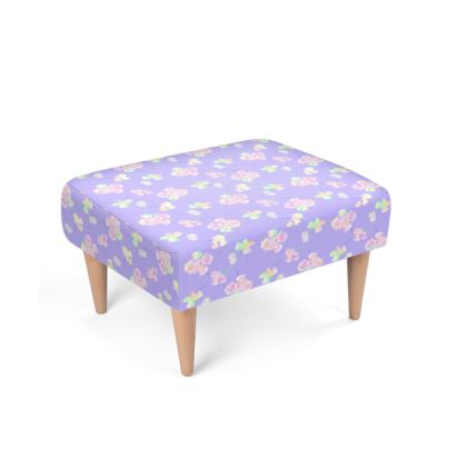 Footstool  My Sweet Pea  Lilac Breeze