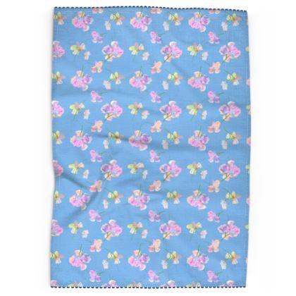 Tea Towels  My Sweet Pea  Periwinkle [blue]
